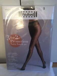 Wolford Satin Touch 20 Tights  3 for 2 promotion pack in Small Nearly Black.