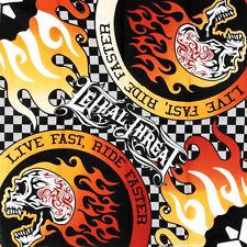 Biker Rocker Brotherhood Ride Or Die Saloon Skull Bandana Tuch Kopftuch Halstuch