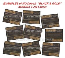 HO Detroit Vintage & Original BLACK & GOLD Labels for AURORA TJets