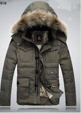 Hip Length Zip Neck Parkas Down Coats & Jackets for Men