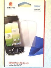For Motorola CLIQ XT GRIFFIN 2X Clear Guard LCD Film Shield Screen Protector