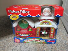 Fisher Price Little People Christmas Santa Claus NEW Workshop 1999 Mrs. Box toy