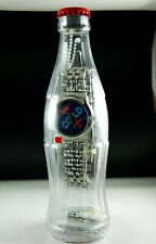 COCA-COLA  WATCH IN A BOTTLE COLLECTIBLE BLUE FACE WITH COKE IN THE FACE