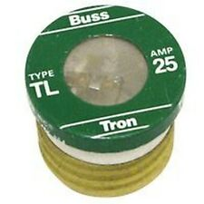 NEW LOT OF (16) TL-25 BUSSMAN 25 AMP SCREW IN  BASE HOUSE PLUG FUSES 4181822