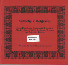 Sotheby's Belgravia- Furniture, WOA, Clocks, Sculptures, Bronzes