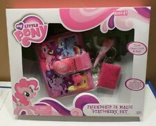 My Little Pony Freindship Magic Stationary Set 4pc NIB 2014 Hasbro Boys & Girls