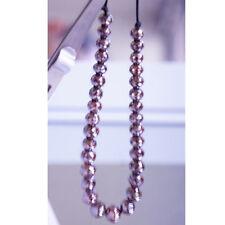 Mens 110 Carat Red Cognac Real Diamonds 8 - 6 MM Beads Shamballa Bracelete Cheap