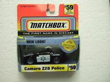 Matchbox RARE MB59 Camaro Z28 Police in US OT-box