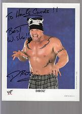 "Darren ""Droz"" Drozdov Autographed 8x10 WWF Promotional Photo Personalized Auto"