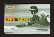 Mark Canha--2016 Oakland Athletics Pocket Schedule--MLB Network