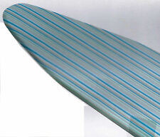Cotton Ironing Board Padded Cover NEW Honey Can Do Blue Green Stripes Elastic