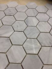 IMPERIAL WHITE (CARRARA) MARBLE HEXAGON MOSAIC TILE