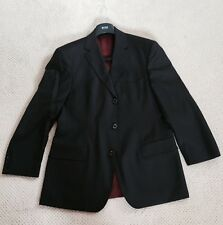 Hugo boss suit scorsese movie us 38S dark bown stripped red