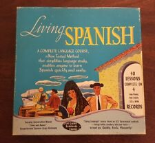 """""""Living Spanish""""  The Living Language Course 40 Lessons Complete on 4 LP Records"""
