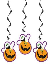 Halloween Hanging Decoration Cute Pumpkin Ghost 3 pack FREE P&P