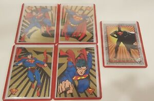 1993 Return Of Superman gold chase cards set Skybox SP1, SP2, SP3, SP4 and Promo