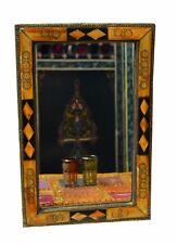 Moroccan Wall Mirror Mediterranean Handmade Camel Bone Bathroom Living Room MED