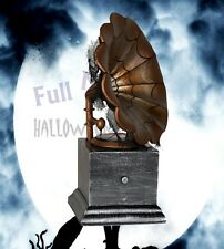 New Halloween Gramophone Gemmy Animated Sounds Prop Decoration