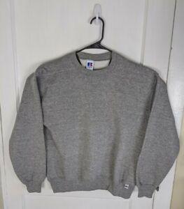 Russell Athletic Blank Crewneck Sweatshirt Men L Made USA Pullover 50/50 Gray