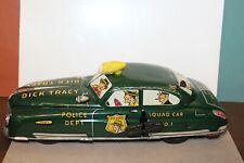 VERY NICE TIN LITHO 1949-50 MARX WIND UP DICK TRACY SQUAD CAR #1