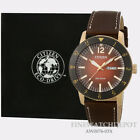 Authentic Citizen Eco-Drive Mens Brycen Brown Leather Strap AW0076-03X
