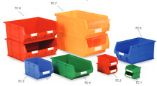 20 x Plastic Parts Storage Bins - components screw stacking workshop van boxes