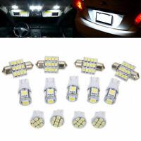 13X Car White Mini LED Lights Kit for Stock Interior & Dome & License Plate Lamp