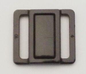 Bikini Verschluß Stegbreite 18 mm schwarz Kunststoff Bikiniverschluss Verschluss