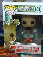 Marvel Guardians Of The Galaxy Snow Holiday Dancing Groot #101 Pop Vinyl Aus