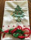 Vintage Crewel Embroidery 1982 National Paragon Corp No 6445 Holiday Trees