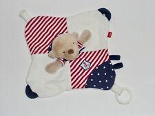 Fehn Bär Teddy Teddybär Ocean Club weiß rot blau Schmusetuch Kuscheltuch wie NEU