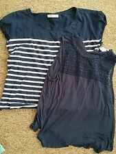 Paquete Azul Niña Mujer Verano Top Tshirts de Pull & Bear y H&M Talla M 40