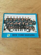 Topps Hockey 1962-63  New York Rangers Team Picture card # 65