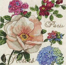 Cross Stitch Kit Design Works Paris Fleurs French Garden Flower Sampler #DW2848