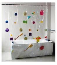 Einfarbige moderne Duschvorhänge aus Kunstoff mit