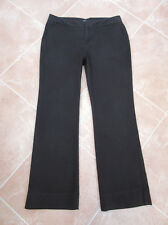 WOMENS BLACK STRETCH COTTON CANVAS TROUSERS - DOCKERS - 12 MED