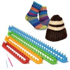 4pcs Knitting KNITTER Looms DIY Crochet Kit Sock Scarf Hat Maker & Hook & Needle