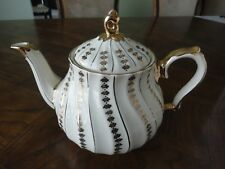 Vintage ! England Sadler Teapot, Gold Swirl, Gilt, No tax