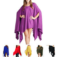 Summer Women Batwing Sleeve Loose Shirt Ladies Casual Poncho Tops Blouse New