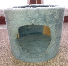 Round Cat House Climbing Bed Kennel Indoor w/ Look Out Top