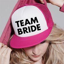 Team Bride Groom Personalised Text Half Mesh Baseball Snapback Hat Trucker Cap