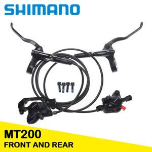 Shimano MTB Bicycle Brake Front Rear BL BR MT200 Hydraulic Disc Brake Set Black