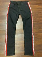 Authentic MNML Black W/ Red & White Stripe Pants (Men's US Size 36) ~ PRE-OWNED