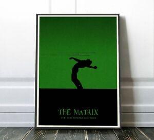 The Matrix Movie Poster | Minimalist Art print | Size: 42 x 29.7 cm (A3)