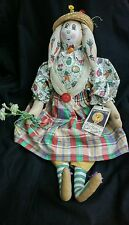 "Handmade Art Moonlight & Roses ""Miss Sweet Pea Rabbit"" Doll Marta E. Peters"