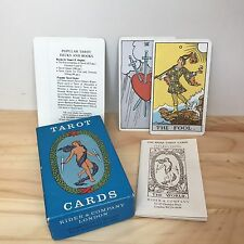 MINT Rider Tarot Cards Pamela Coleman Smith Complete AG Muller AE Waite Blue Box