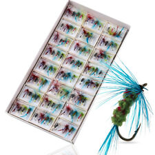 Trout Salmon Dry Fly Fishing Flies 96pcs Lots Fly Fishing Lures Tackle Sets