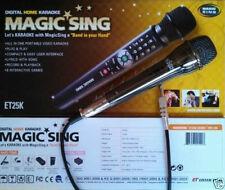 NEW MAGIC SING ET-25K karaoke 2300 Tagalog & English Songs Bag Binder + duet Mic