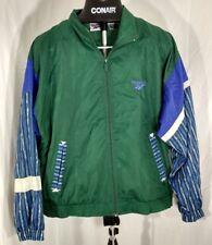 vintage 90s Reebok hip hop zip up windbreaker jacket green Large