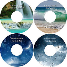 Naturale Sounds Water Rain Sea Thunder 4 CD Relaxation Antistress Aiuta Il Sonno